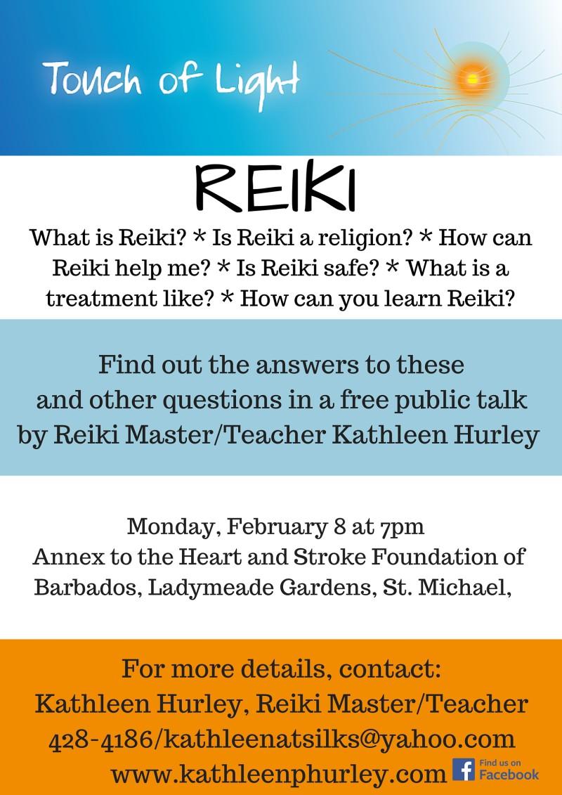 Reiki talk poster